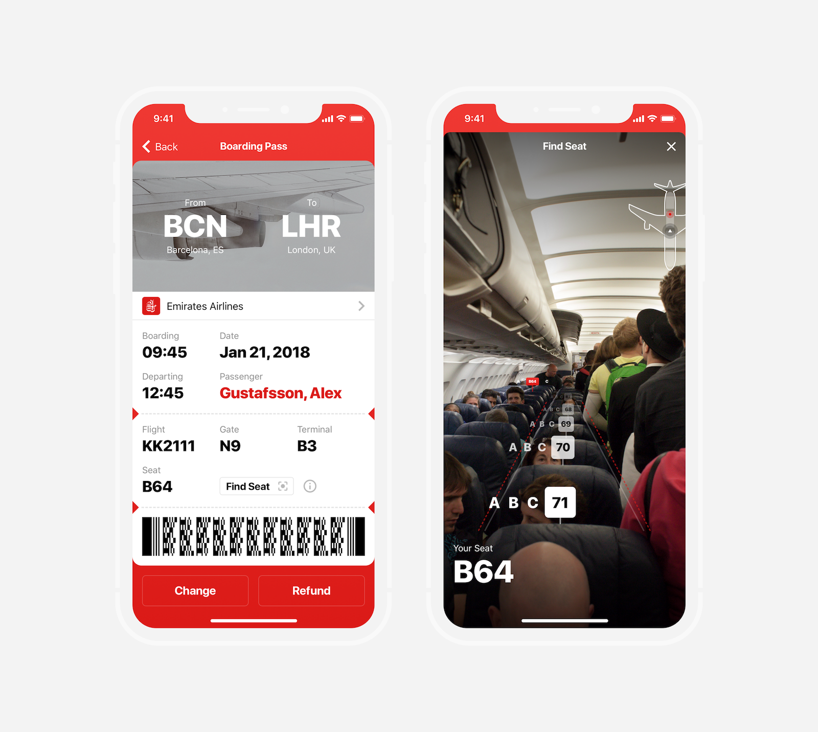 AR Boarding Pass
