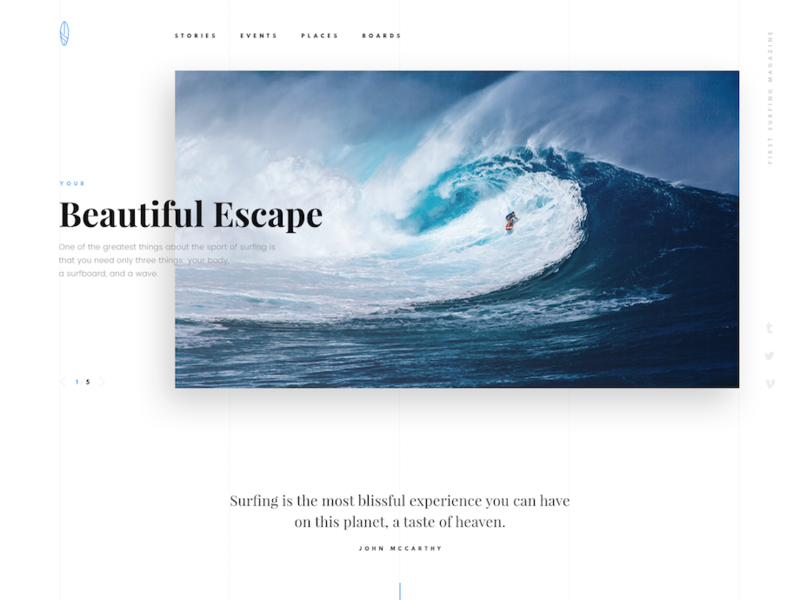PSD template for surfers preview picture