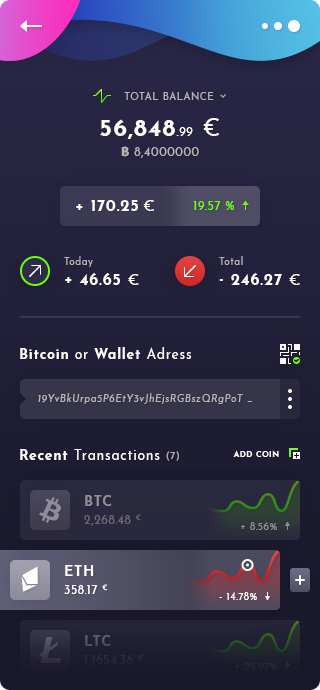 Wallet Cryptocurrency App