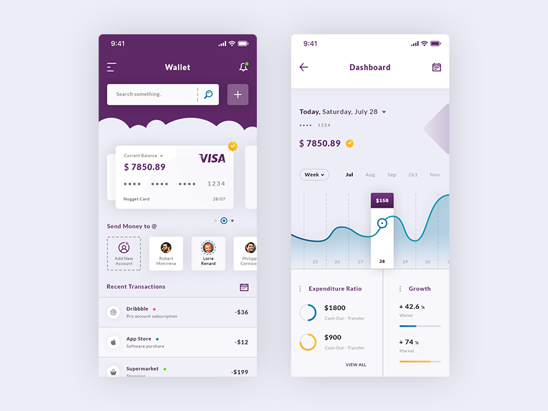 Wallet & Dashboard IOS App preview picture