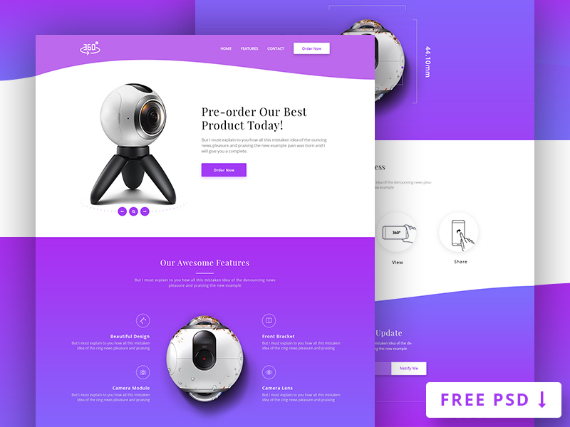360 Degree Product Landing Page preview picture