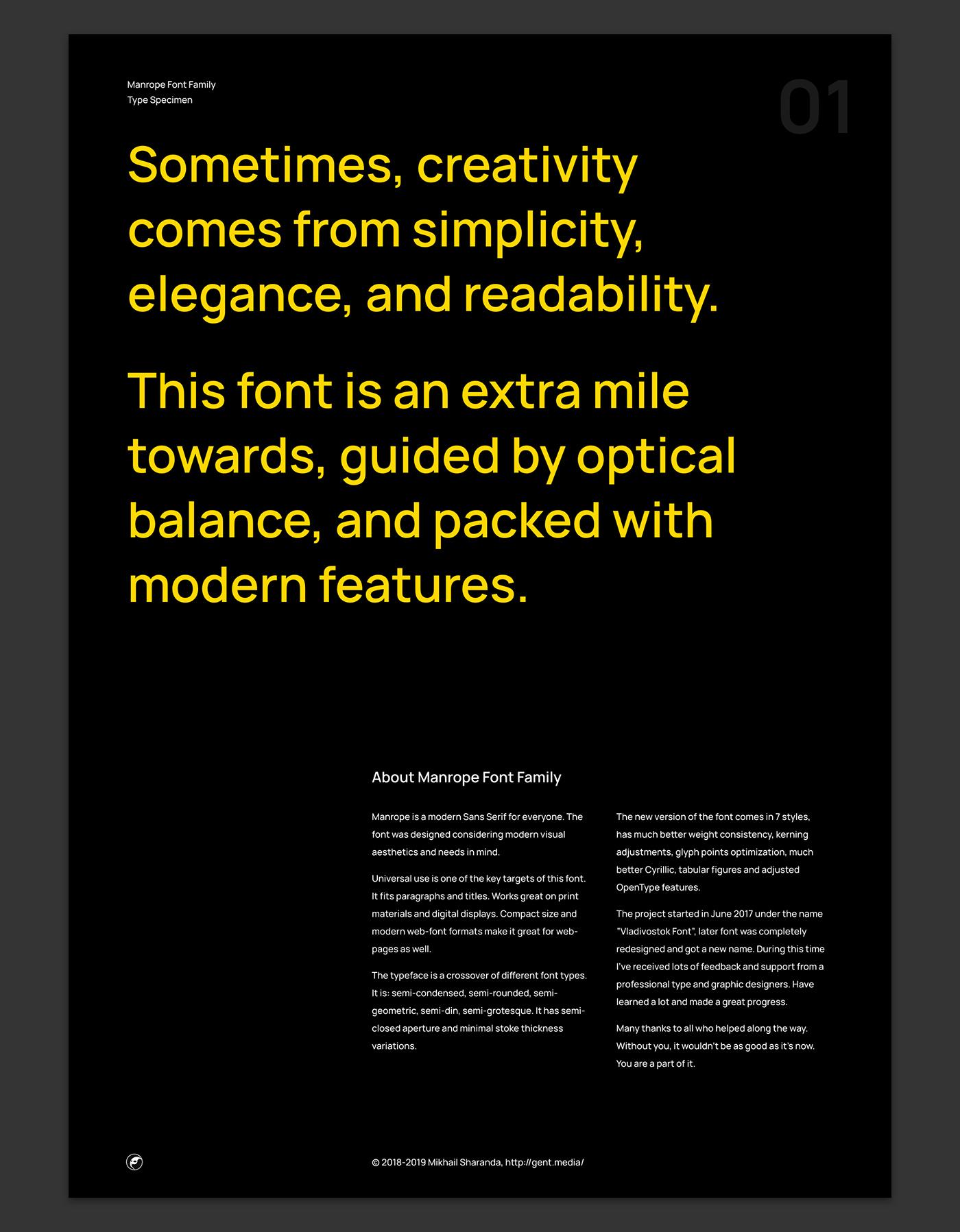 Manrope: A modern, geometric sans-serif typeface