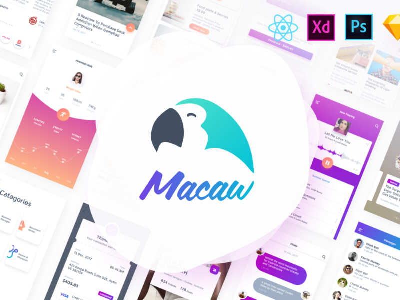 Macaw UI + React-Native Theme preview picture