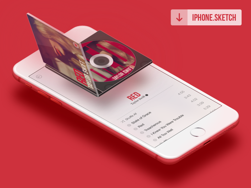 Red iPhone Mockup