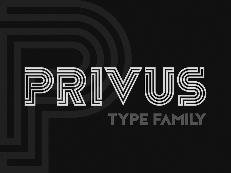 Privus Type Family — Free Demo preview picture