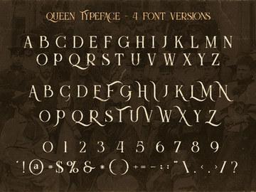 Queen Inline Grunge - Free Font