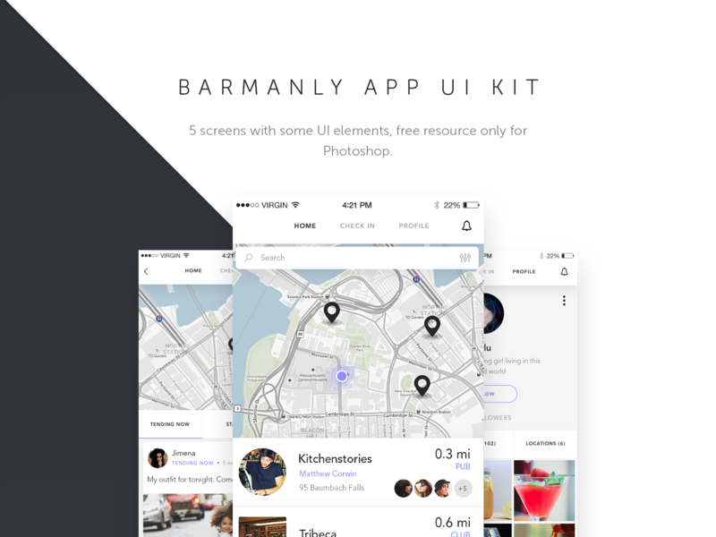 Barmanly App UI Kit