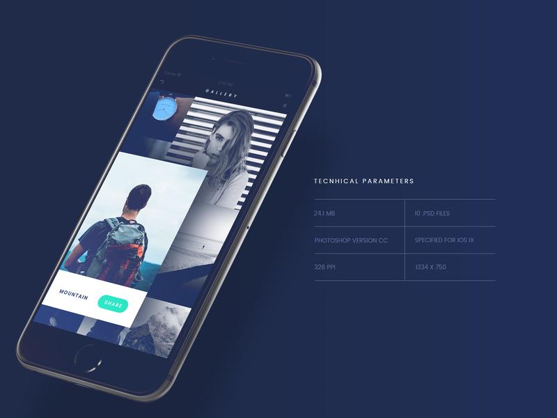 FADE App UI Kit [PSD]