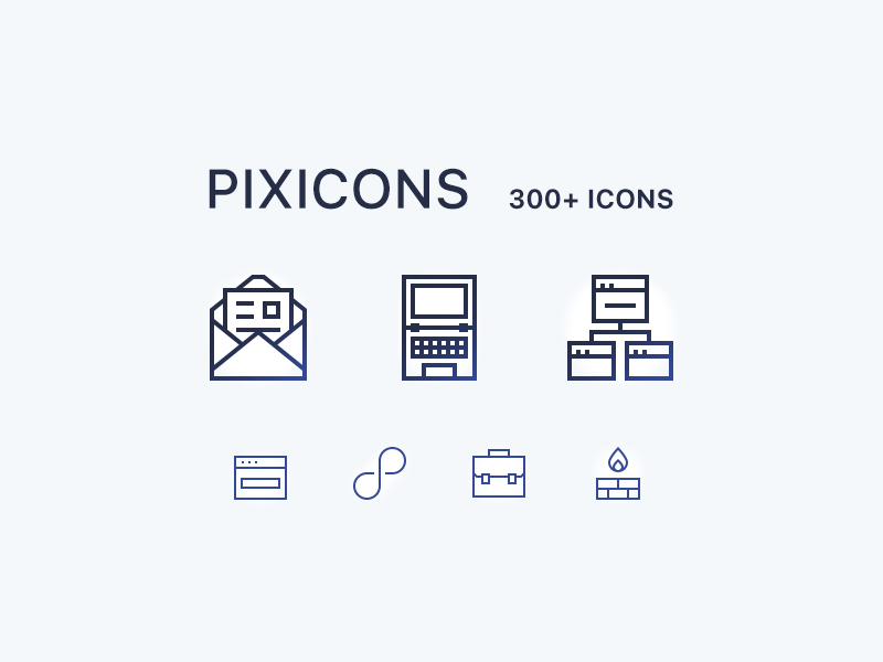 Pixicons 300+ Icons preview picture