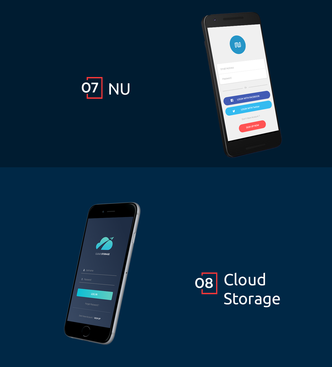 10 Login Screens Free UI Kit