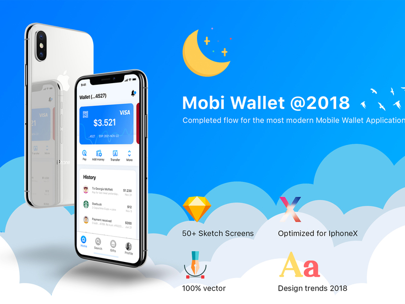 Mobi Wallet - Fintech Apps and Banking Mobile UI KIT preview picture