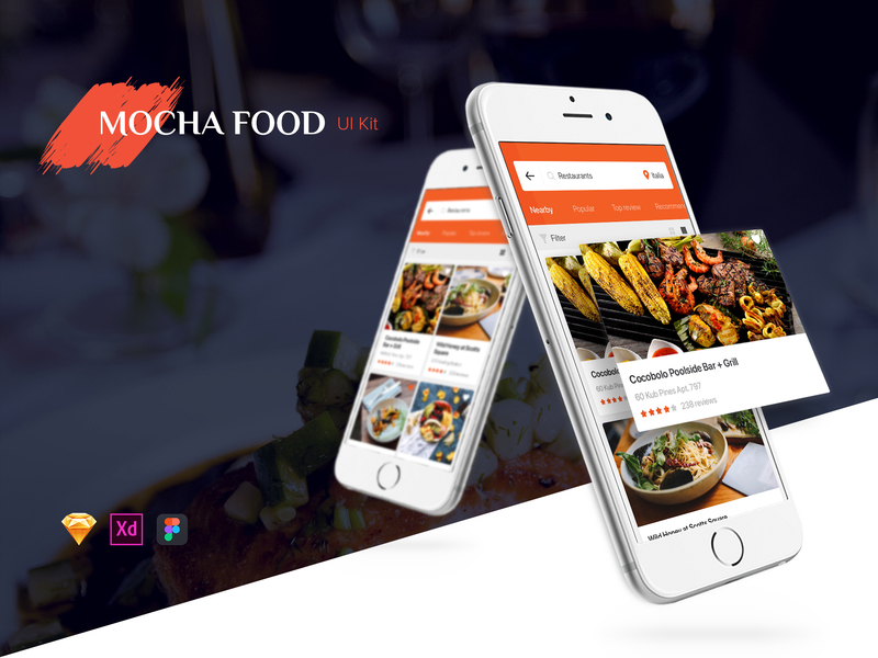 Food Mobile App UI Kit preview picture