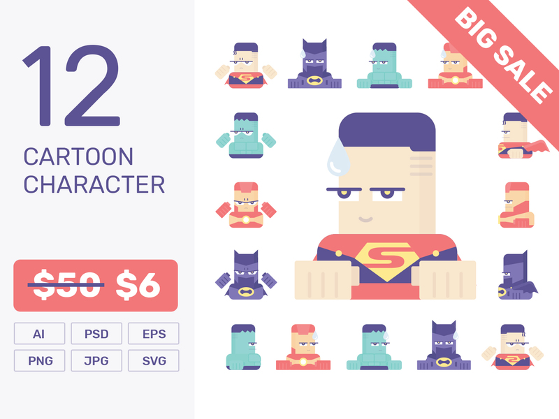 Hero Character Creator Design Vector preview picture