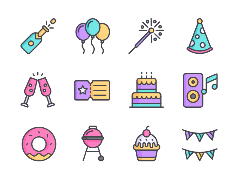 Party Icon Set preview picture