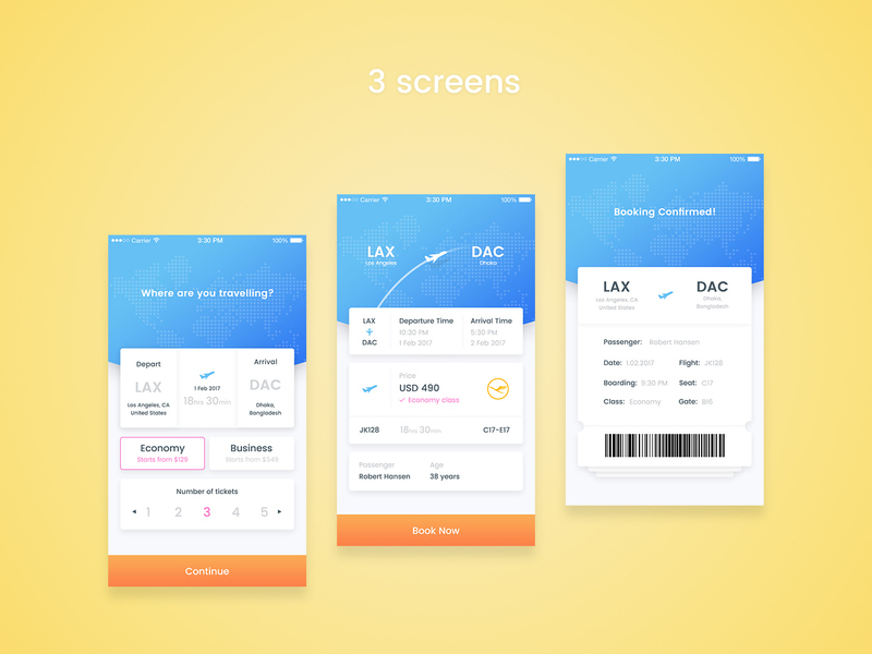 EasyFlight booking app [PSD]