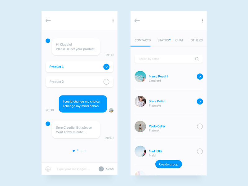 Mobile Chat App Design preview picture