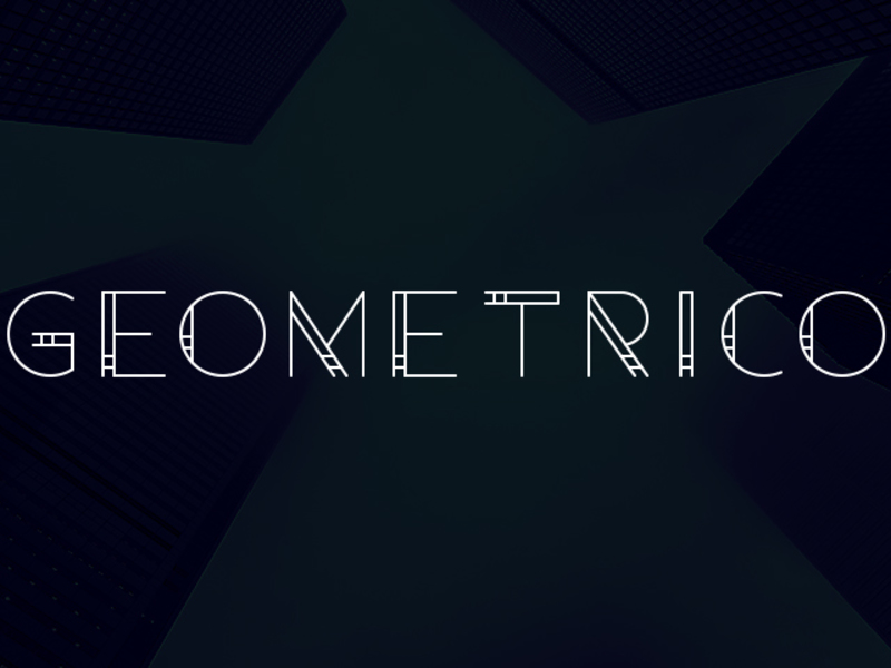 Geometrico - Free Font preview picture