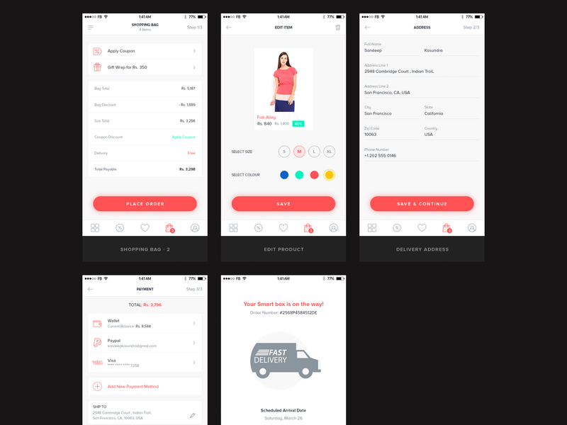 Ecommerce Mobile UI Kit