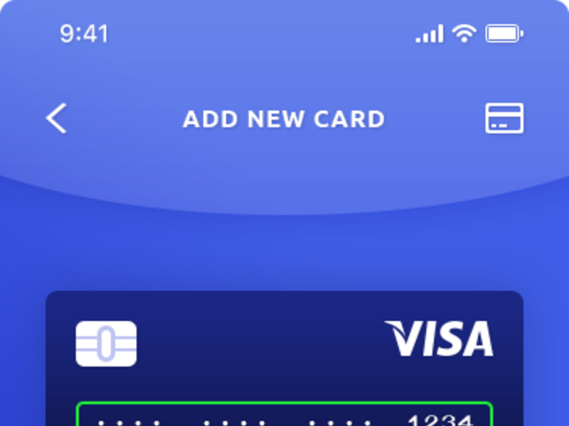 Checkout & Add New Card IOS App