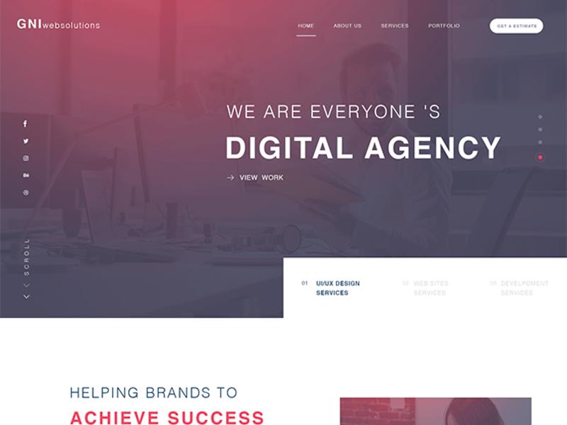 Creative Agency PSD Template