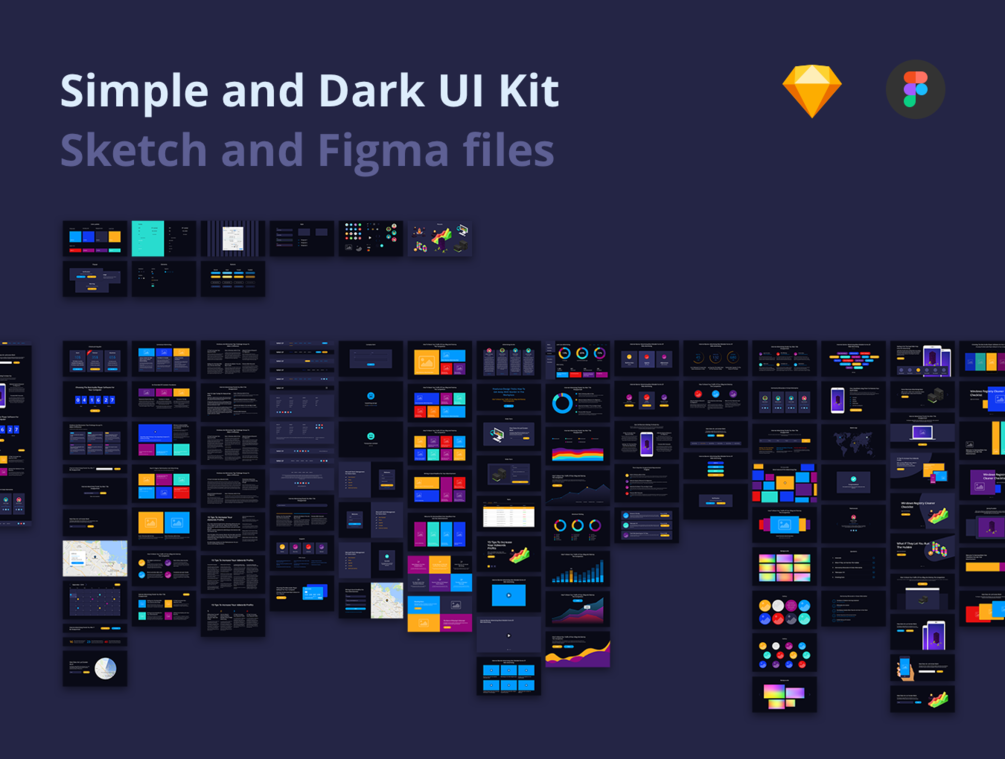 Simple and Dark UI Kit