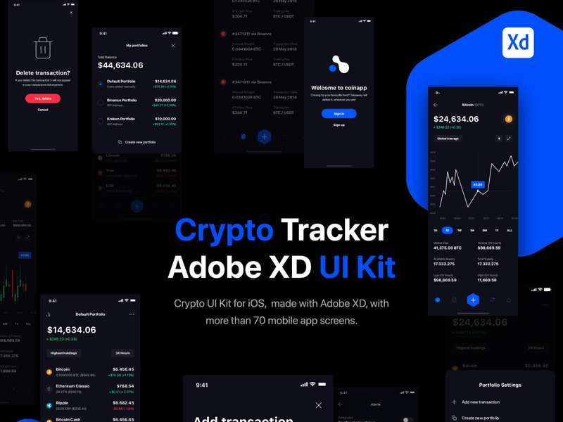 Crypto Portfolio Tracker UI Kit for iOS preview picture