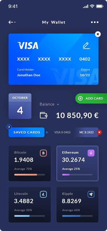 My Wallet - iOS App