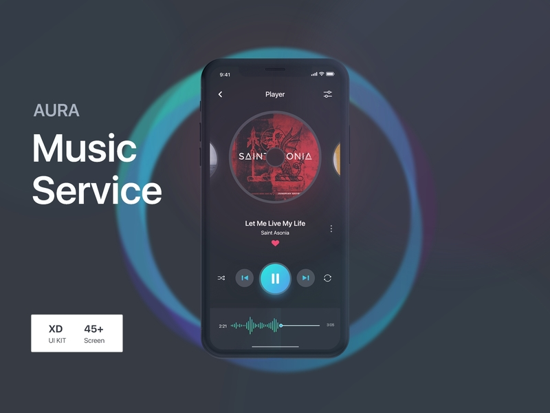 Aura Music Service UI Kit preview picture