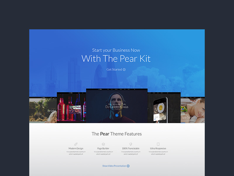 Pear - Landing Page Template preview picture