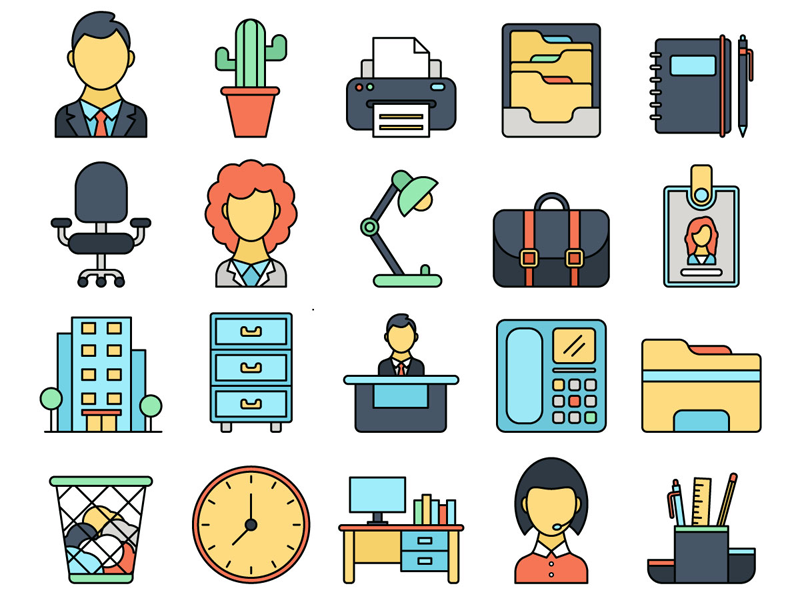 Office Vector Free Icon Set preview picture