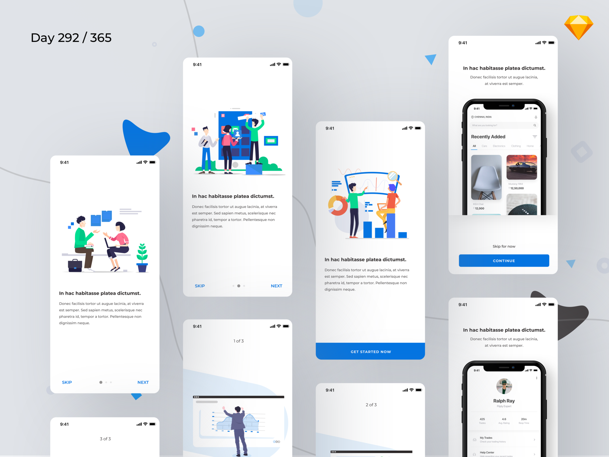Mobile Onboarding Screens
