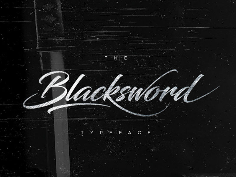 Blacksword Typeface preview picture