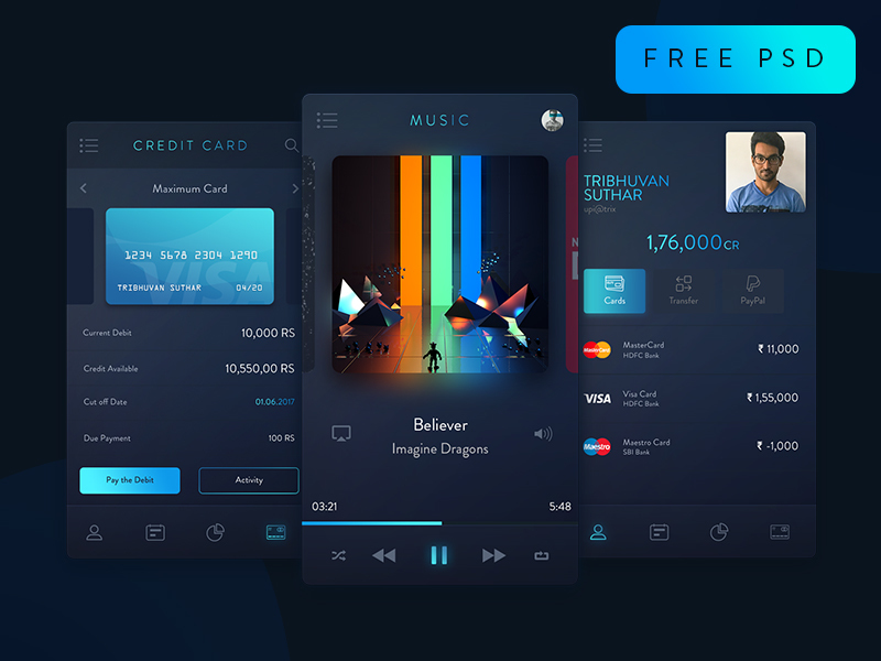 Trix UI Kit freebie preview picture
