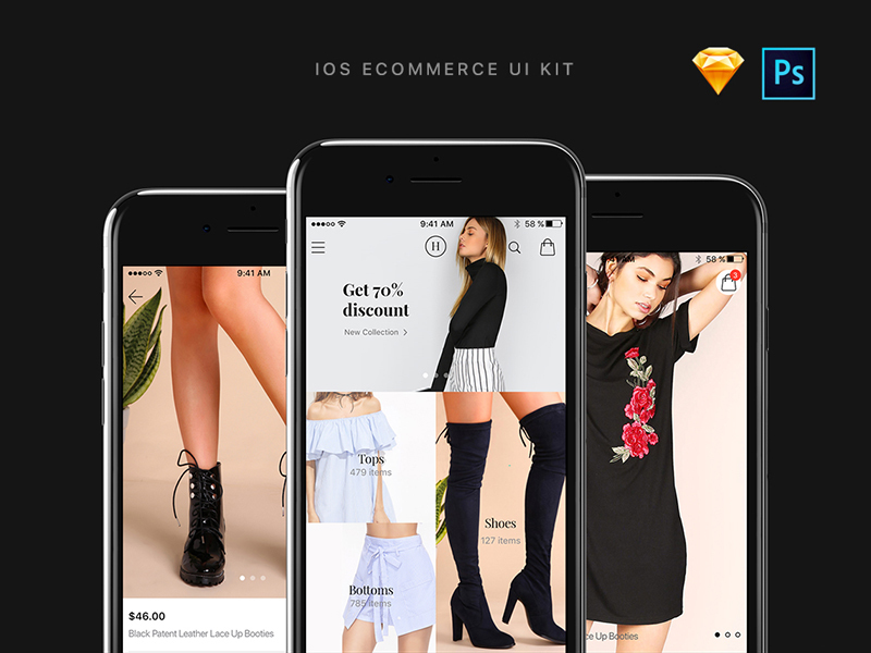Helen – Free IOS eCommerce UI Kit preview picture
