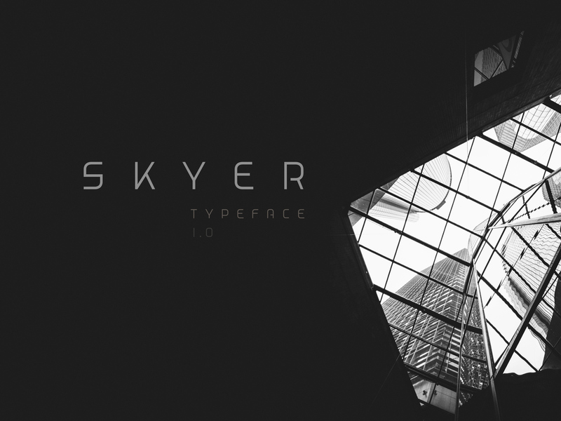 Skyer Typeface preview picture