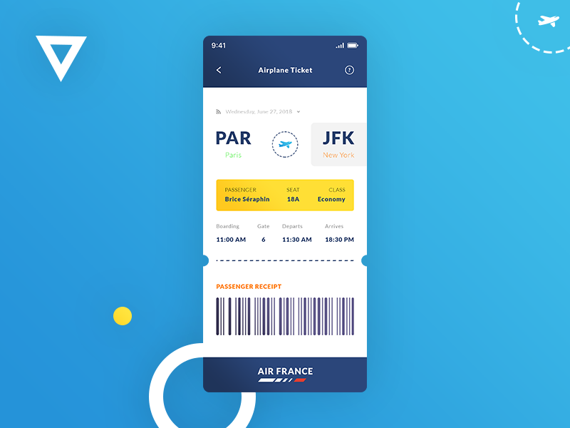 Airplane Ticket iOS App preview picture