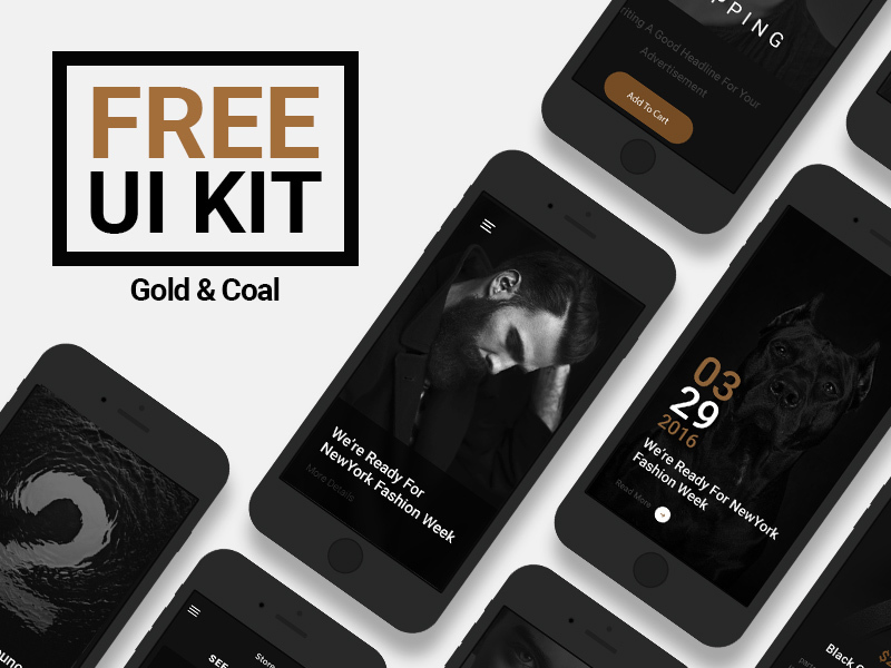 Gold & Coal UI Kit preview picture
