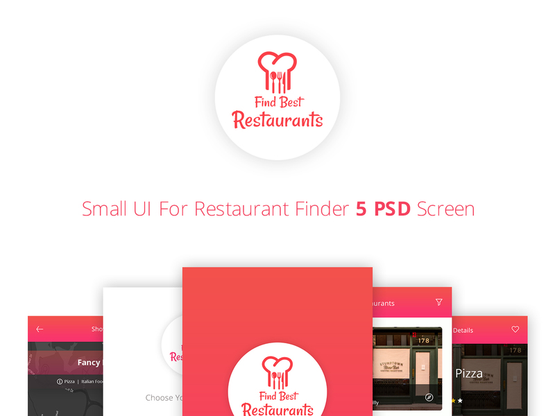 Find Restaurant UI [PSD]