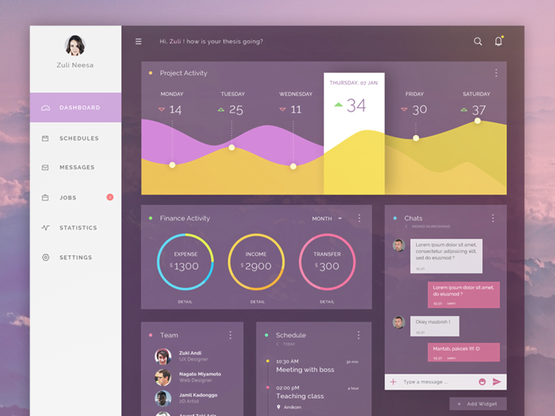 Dashboard template [PSD] preview picture
