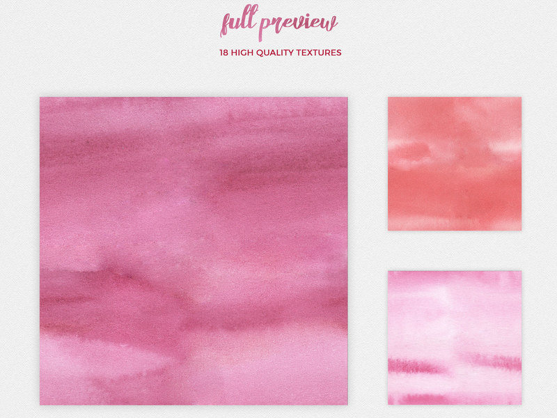 Watercolor Seamless Textures - Red Pack