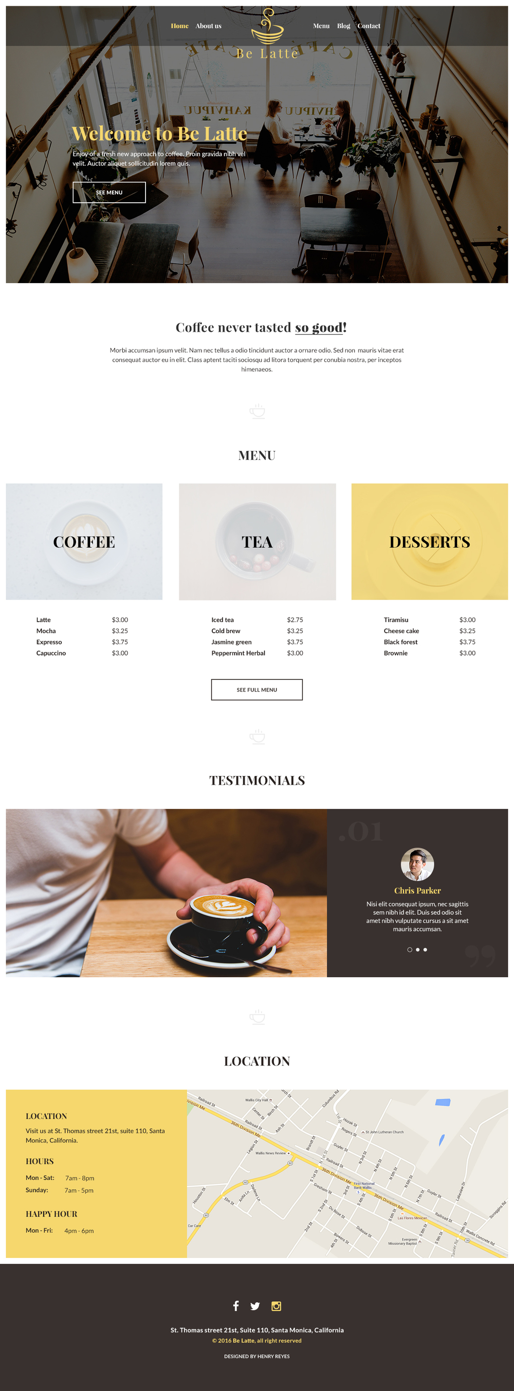 Be Latte - Coffee shop [PSD]