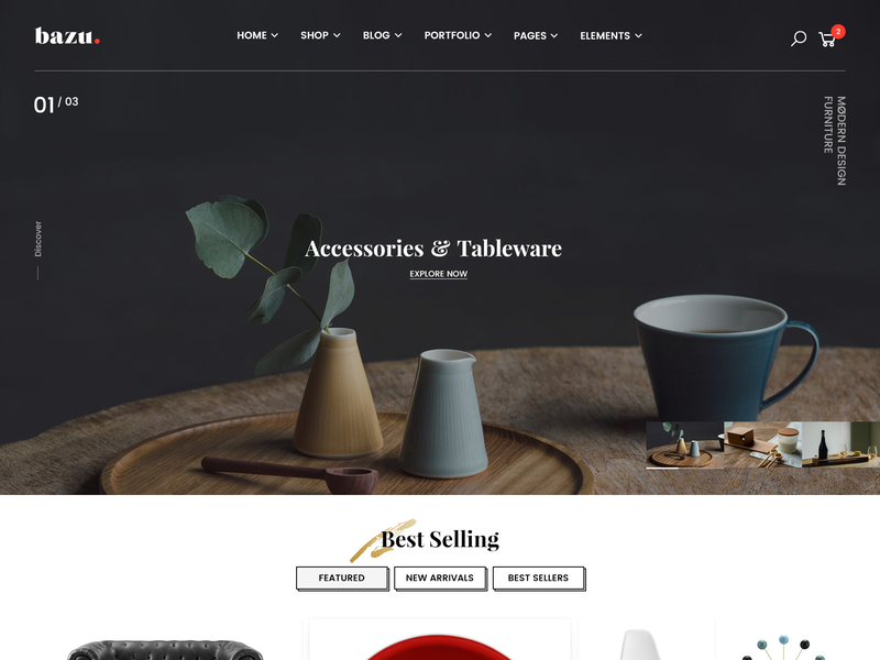 BAZU | Multi-Purpose Responsive E-commerce Template