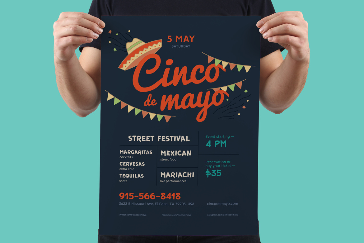 Cinco De Mayo Poster Template