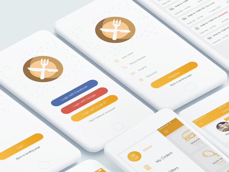 Food Mad App UI Kit