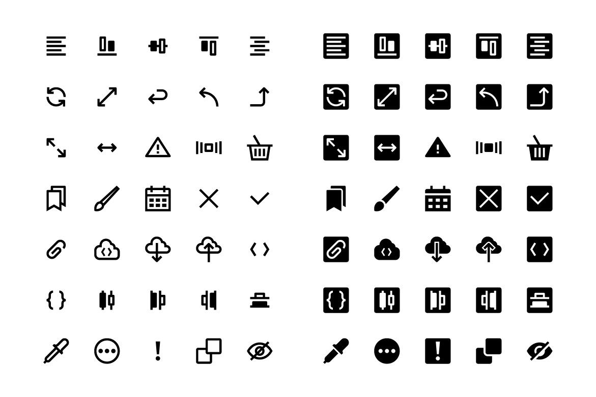 248 Interface icons — Free icon set