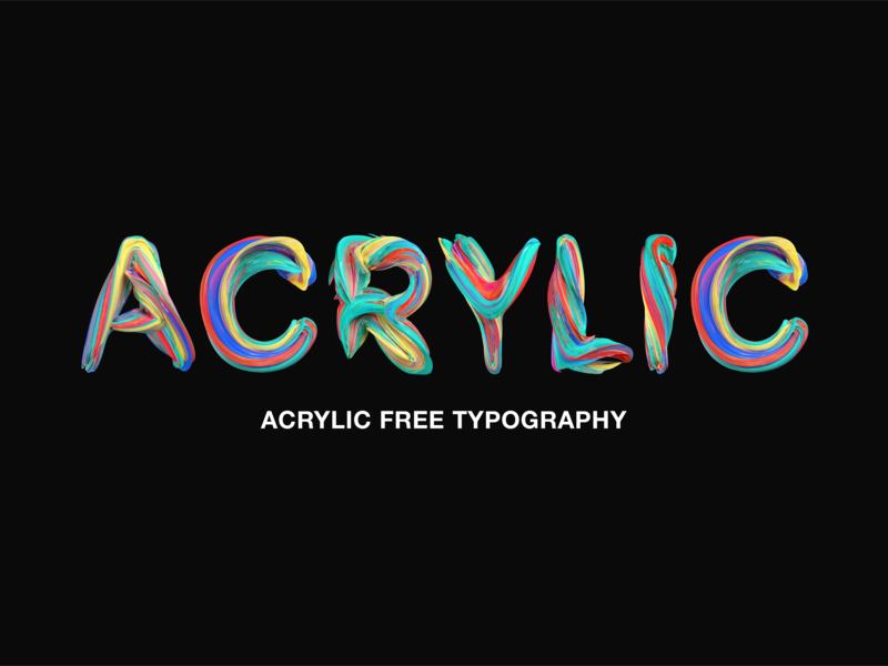 Acrylic Free Typography preview picture