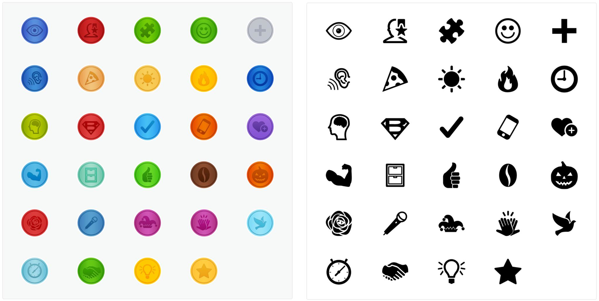 Employee Recognition Icons & Badges