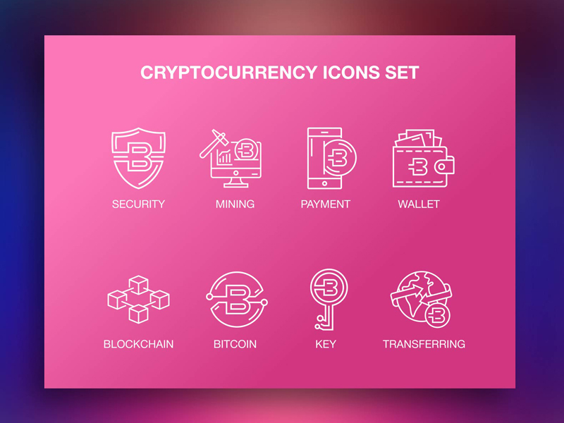 Cryptocurrency Icons Set