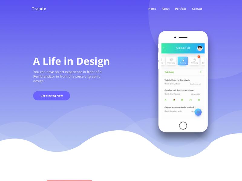 Trandx App Landing Page Template