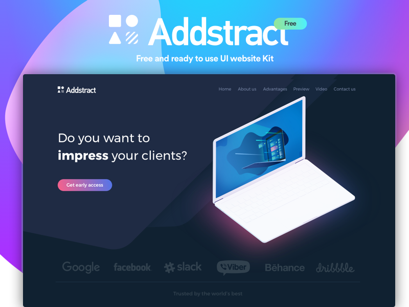 Addstract | Free UI kit preview picture